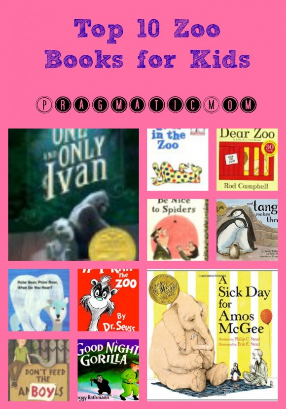 best zoo themed books for kids, zoo chapter books, zoo picture books