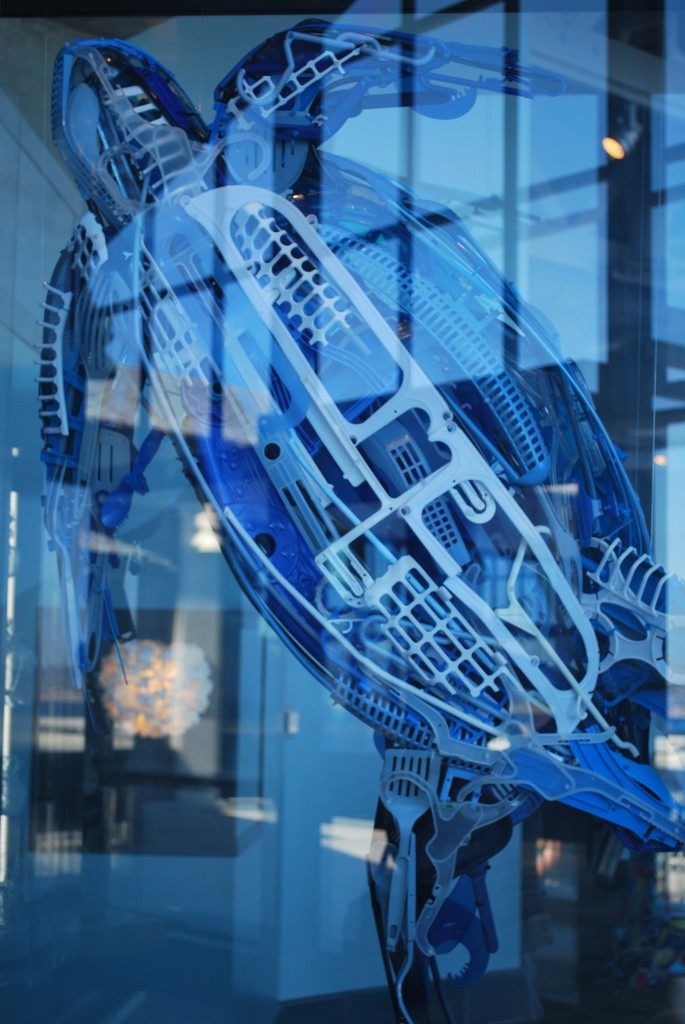 upcycled plastic art, Monterey Bay Aquarium
