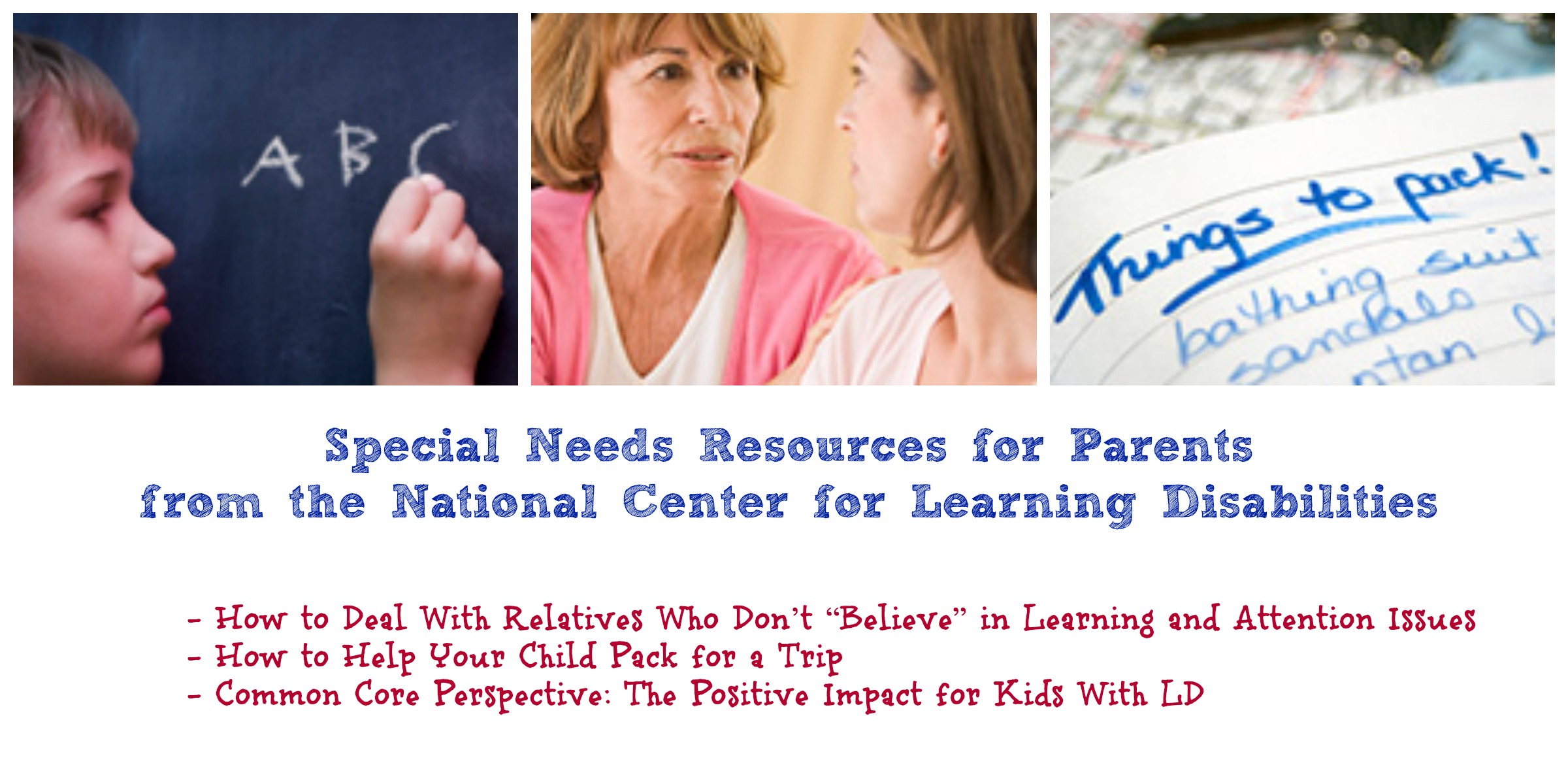 special needs and ncld