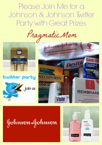 Johnson & Johnson healthy essentials twitter party