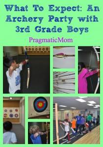 archery birthday party with 3rd grade boys