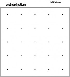free printable to make your own geoboard