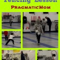 3rd grade boy first fencing lesson Boston