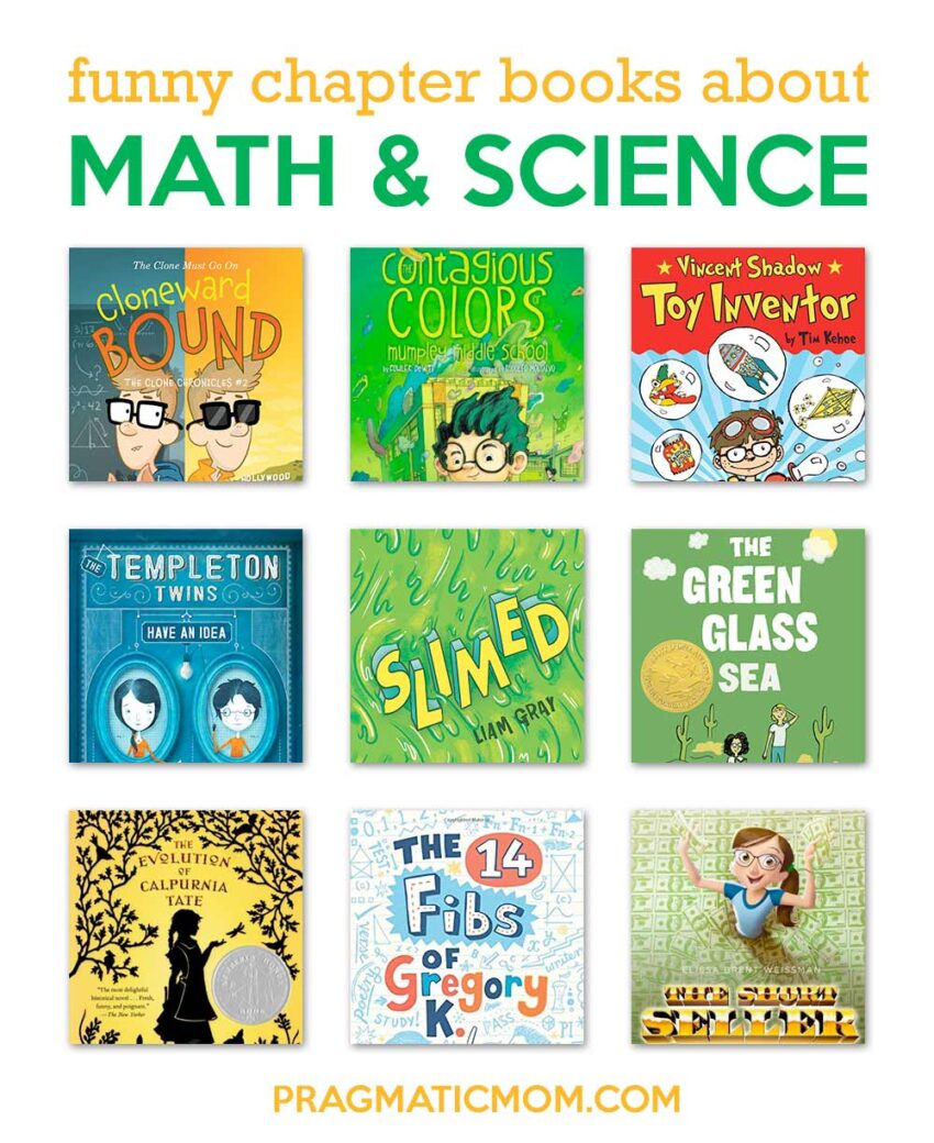 Funny Science-y Math-y Chapter Books for ages 7 and up