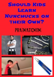 kids and nunchucks, should kids learn nunchucks