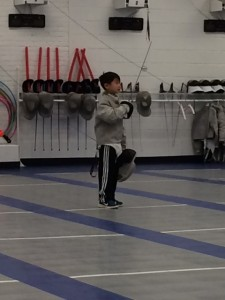 first fencing lesson for third grade boys