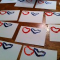making Valentine's Day cards with kids