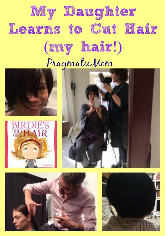 PickyKidPix cuts my hair, my daughter cuts my hair