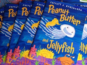 Peanut Butter and Jellyfish picture book signed copy, Jarrett Krosoczka, giveaway