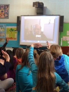Doug Cushman author illustrator, 2nd grade school author visit, Doug Cushman Skype author visit
