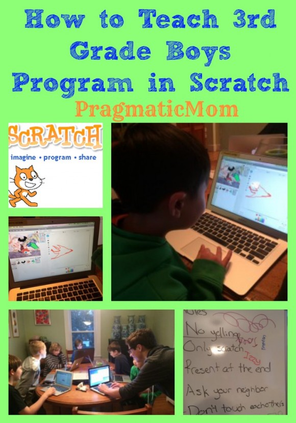 how to teach 3rd grade boys to program in Scratch