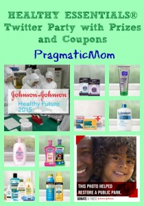 Healthy Essentials Johnson and Johnson twitter party and coupons