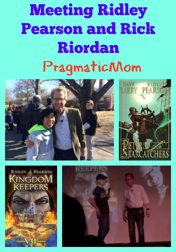 Meeting Ridley Pearson and Rick Riordan, Kingdom Keepers