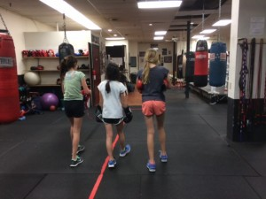 boxing keeps girls friendships strong
