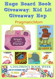 huge board book giveaway, kid lit giveaway hop