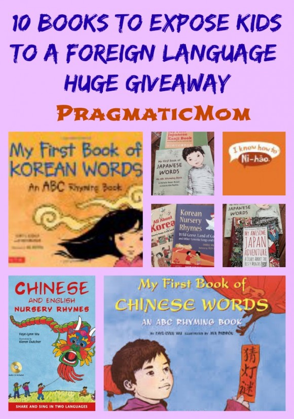 10 books to expose kids to foreign language giveaway