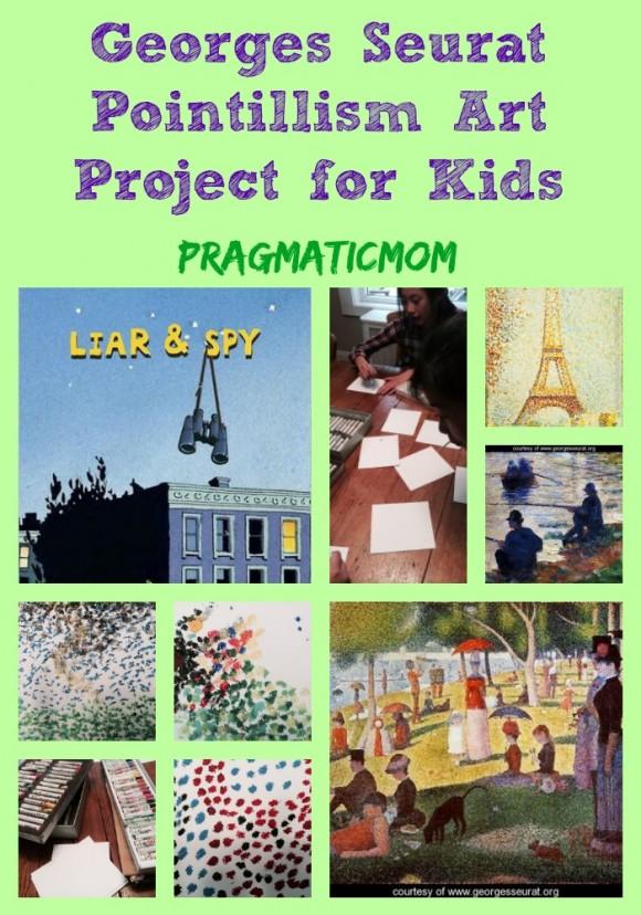 Georges Seurat Pointillism Art Project for Kids