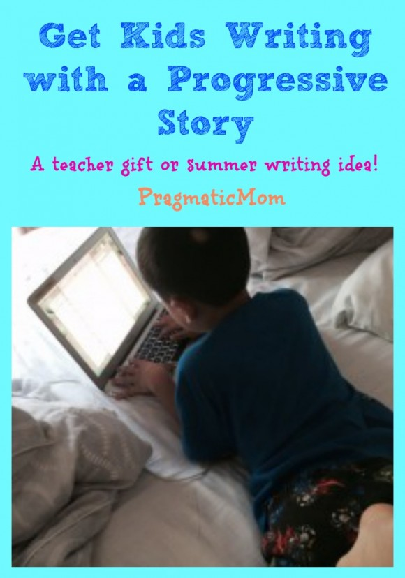 get kids writing with progressive story, teacher gift idea