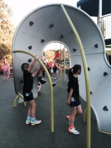 Healthy Essentials, new mobius playground structure is tricky