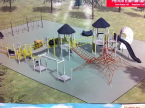new peirce elementary school playground in newton ma