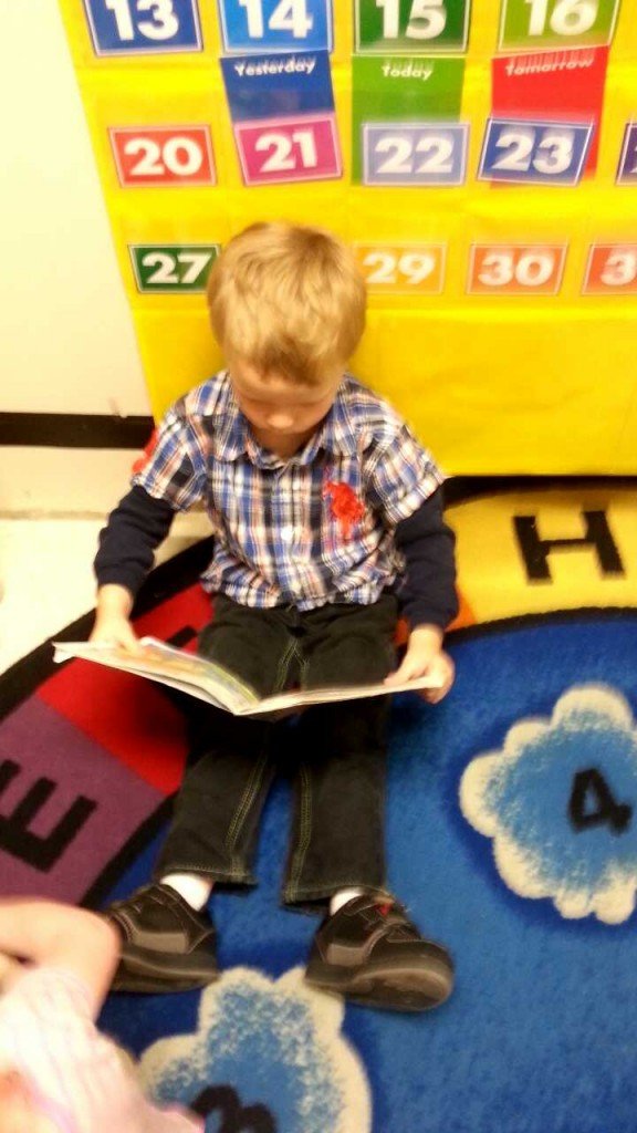 reading at daycare