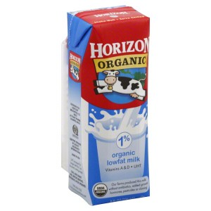 Horizon Organics milk cartons for kids
