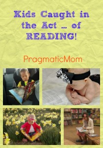 kids caught in the act of reading this summer
