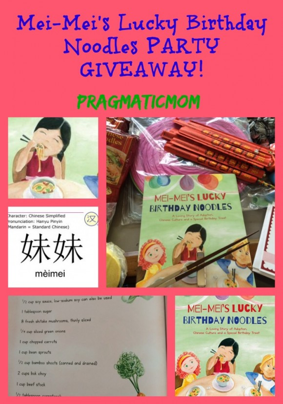 Mei-Mei's Lucky Birthday Noodles PARTY GIVEAWAY!
