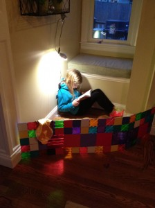 magna tile reading space for kids