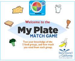 my plate match game healthy choices for kids game