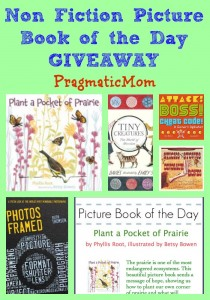 non fiction picture book of the day giveaway, plant a pocket of prairie by phyllis root