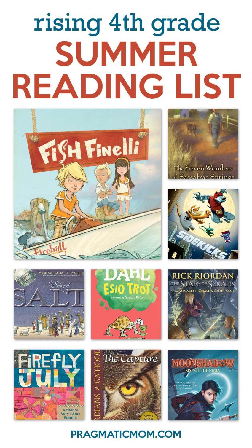 Rising 4th Grade Summer Reading Book List