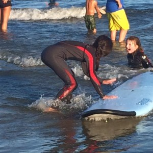 Volunteering at Special Surfing Night in Kennebunk