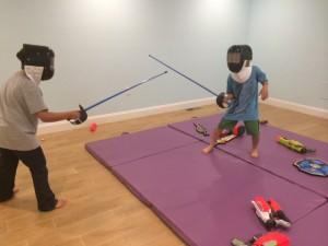 Moonshadow sword play family reading activity