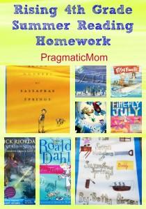 4th grade summer reading homework