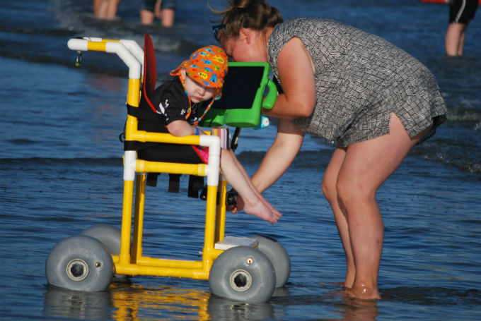 surfing and special needs kids volunteer event