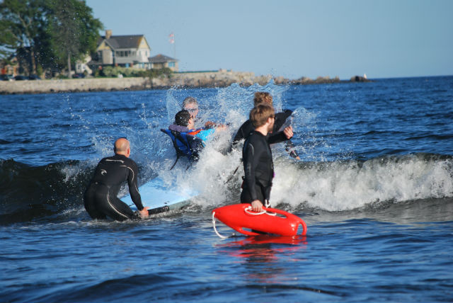special needs surfing event for kids in maine
