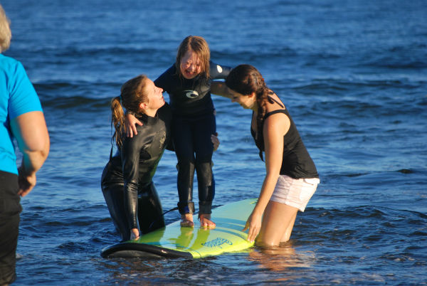 special needs kids surfing event in maine