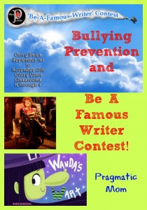bullying prevention, Be a Famous Writer Contest, Mrs. P