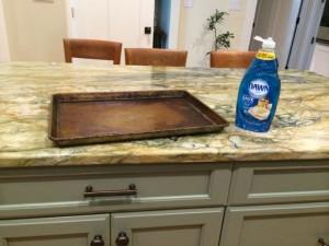 Dawn dish soap versus greasy pan