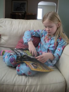 kids caught in the act of reading