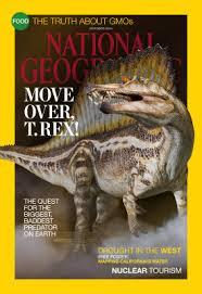 National Geographic Magazine Spinosaurus versus T Rex