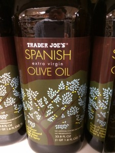 spanish olive oil from Trader Joe's for paella