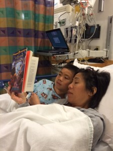 Blood of Olympus while at the hospital