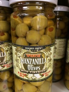 spanish olives from Trader Joe's for paella
