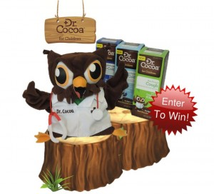 win an adorable Dr. Cocoa puppet