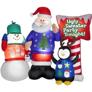 ugly santa sweater inflatable