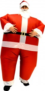 tacky inflatable santa suit