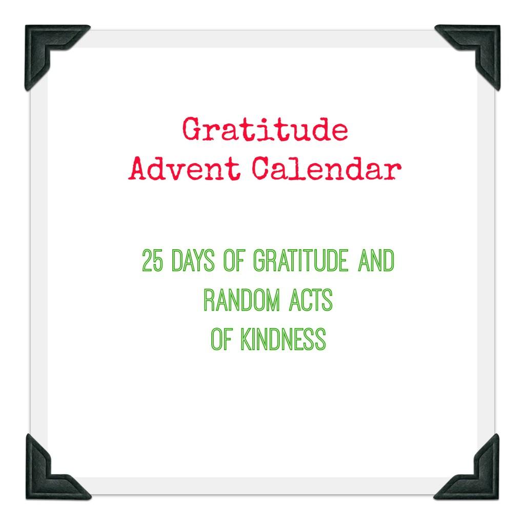 gratitude advent calendar