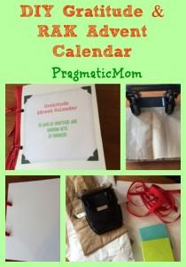 Gratitude Advent Calendar, Random Acts of Kindness Advent Calendar for kids
